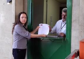 CNTA Afins entrega nota de Rel-UITA a la Presidencia de Brasil