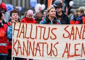 Resolución contra el recorte de derechos laborales en Finlandia